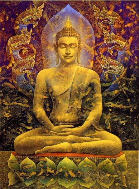 Buda y meditar